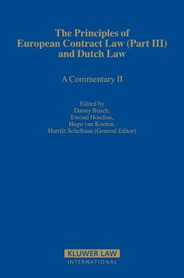 Principles of European Contract Law: A Commentary