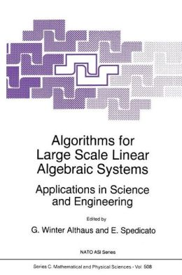 Algorithms for Large Scale Linear Algebraic Systems:: Applications in Science and Engineering