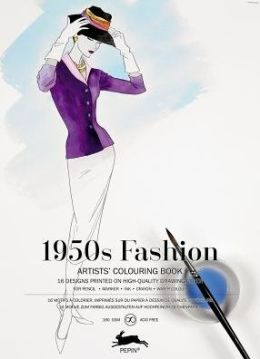 Vogue Coloring Book Review : 1950 s Fashion: Coloring book by Pepin 9789460098109 Paperback Barnes & Noble