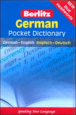 German Pocket Dictionary