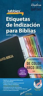 Spanish Rainbow Bible Indexing Tabs: Bible Indexing Tabs [With Booklet]