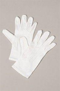 Halco 9940 Nylon Santa Gloves - White